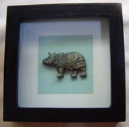 Framed Rhinoceros - Asian Art