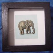 Framed Elephant - Asian Art