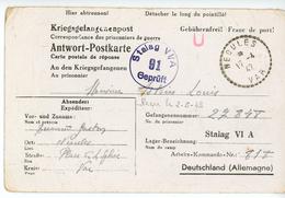 VAR CPFM PRISONNIER 1942 NEOULES RECETTE DISTRIBUTION => STALAG VI A = HEMER KREIS ISERLOHN  ( MUNSTER ) ALLEMAGNE - 1921-1960: Moderne