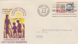 Enveloppe FDC  1er Jour   NOUVELLES  HEBRIDES   Campagne  Mondiale  Contre  La  Faim  1963 - FDC