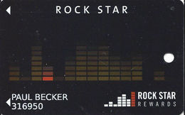 Hard Rock Rocksino - Northfield, IL - Original Casino Slot Card With No Manufacturer Mark - Casino Cards