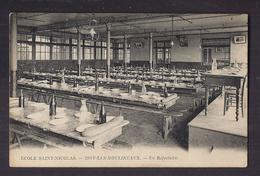 CPA 92 - ISSY-LES-MOULINEAUX - ECOLE SAINT-NICOLAS - Un Réfectoire - TB PLAN CANTINE Intérieur Etablissement - Issy Les Moulineaux