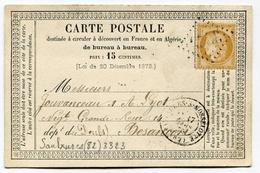 !!! CARTE PRECURSEUR CERES CACHET DE SAULXURES ( VOSGES ) - Precursor Cards