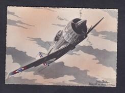 Prix Fixe CPSM Aviation Illustrateur Louis Petit Avion Bloch 151 De Chasse Et D' Attaque France - 1939-1945: 2ème Guerre