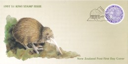 New Zealand 1997 Purple $1 Kiwi FDC - FDC
