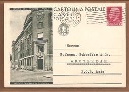 CP OPERE DEL REGIME-ROMA 75C ISTITUTO CENTRALE DI STATISTICA. Trieste>Holland 1932 - 1900-44 Victor Emmanuel III.