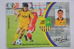 Cristaldo (Argentina)  - Team S.C. METALLIST Kharkiv - Modern Adv Postcard -2000s - Football - Soccer - Fussball