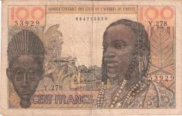 ETATS D'AFRIQUE De L'OUEST - (General Issues W/O Letter)    100 Francs   1959; ND   Sign.5   P. 2b - West African States
