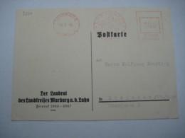 Firmen Freistempel , Meterstempel Auf Beleg Aus   1946   , Marburg (Lahn) - Bizone