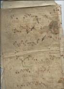 Page D'antiphonaire Utilisé Comme Couverture De Livre-(visages Dans Les Maguscules)-utilisé Pour Un Livert 1602-1612 - Manuscrits