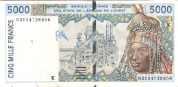 ETATS D'AFRIQUE De L'OUEST - SENEGAL   5000 Francs   (20)02   Sign.31   P. 713Kl - Senegal