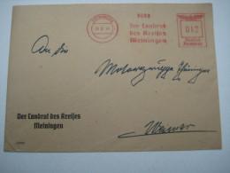 Firmen Freistempel , Meterstempel Auf Beleg Aus Meiningen 1941 - Deutschland