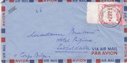 Belgique - Lettre De 1950 - Oblit Bruxelles - Exp Vers Le Congo Belge - Léopoldville - Avec Vignette D'affranchissement - Vignettes D'affranchissement