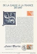 DOCUMENT 1997 DE LA GAULLE A LA FRANCE - SAINT MARTIN - Documents Of Postal Services