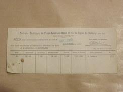 RECU Centrale Electrique De L' Entre Sambre Et Meuse Et De La Région De Malmédy Auvelais Belgique 1933 Electricité - Electricity & Gas