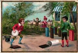 1 CardC1895 Pub Chocolat  Suchard  N°24  BOWLING  Jeu De Boules  Litho - Bowling