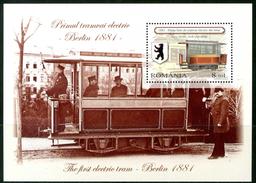 """ROMANIA 2009** - The First Electric Tram - """"Berlin 1881"""" - Block  MNH  Come Da Scansione. - Tram"""