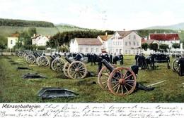 Mörsenbatterien / Batterie De Canons / Soldats / 1905 - Svizzera
