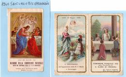 S4 SANTINI - SANTINI - S. ILARIO - CREMONA COMUNIONE PASQUALE 1932+1940 - RICORDO SANTUARIO B.V. CARAVAGGIO - Religione & Esoterismo