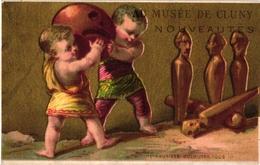 3 Cards C1900 Pub Bourse Bruxelles Imp Gouweloos MUSEE De Cluny L'Alsacienne Dressed Cats  BOWLING  Jeu De Boules  Litho - Bowling