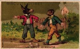 2 Cards C1900 Pub Biscuits Olibet Dressed Animals Antropomorph Saxe Rennes    BOWLING  Jeu De Boules  Litho - Bowling