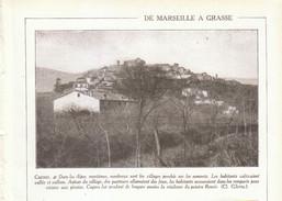 1931 - Iconographie Documentaire - Cagnes-sur-Mer (Alpes-Maritime) - Vue Générale - FRANCO DE PORT - Vieux Papiers