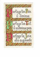 "Cpsm Fantaisie - Lettre Alphabet ""P"" - Proverbe Partage Ton Pain Ta Joie Ton Toit - Imp Roussel Rouen - Fantaisies"