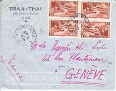 LETTRE DU VIET-NAM (HUE) 1955 POUR LA SUISSE - VOIR AFFRANCHISSEMENT. - Vietnam