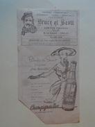 """Billet De Wagon Lits Publicite """"Bruce Et Scott """" Tailleur Ecossais""""  Champigneulles """" - Ferrovie"""