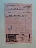 """Publicite """" Limoges Unic """" Et"""" Palmolive Savon """" Sur Billet Cie Wagons Lits Paris - Chemin De Fer"""