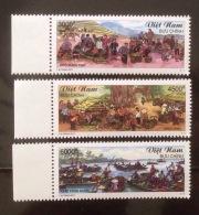 Vietnam Viet Nam MNH Perf Stamps 2017 : Vietnamese Markets : Fruit / Boat Floating Market / Horse / Costume - Viêt-Nam