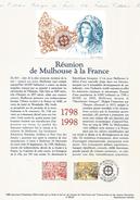DOCUMENT 1998 BICENTENAIRE REUNION DE MULHOUSE A LA FRANCE - Postdokumente