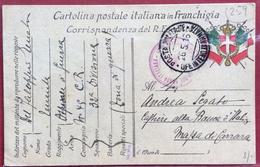 GRANDE GUERRA POSTA MILITARE UFF. INTENDENZA II ARMATA  CROCE ROSSA ITALIANA OSPEDALE DI GUERRA N. 47 26/5/16 - 1900-44 Vittorio Emanuele III