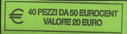 ITALIA  2015 - ROLL 50 CENT  ORIGINALE ZECCA - DATA VISIBILE - FDC - Rotolini