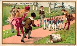 1 Card C1900 Pub Chocolat GUERIN BOUTRON  Imp Minot Jeu De Quilles  Kittles  Kegelspel   Litho - Sports