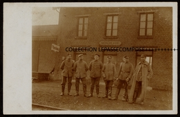 TOP NORD - 59 - MONCHEAUX ( PEVELE CAREMBAULT ) - LA GARE - SERVICE DE GARDE ALLEMAND DE LA STATION ENTRE 1914 1918 - France