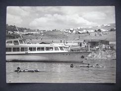 Slovakia (formerly Czechoslovakia) ZEMPLINSKA SIRAVA, Dam Lake - Cruise Ship, Camping, Old Bus - 1966 Stamp Judaica - Bateaux