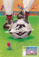 D29185 CARTE MAXIMUM CARD FD 1998 NETHERLANDS - SOCCER COMICS CP ORIGINAL - Soccer