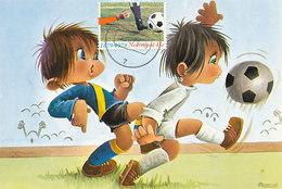 D29186 CARTE MAXIMUM CARD FD 1979 NETHERLANDS - SOCCER COMICS CP ORIGINAL - Soccer