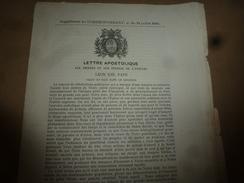 1894 LETTRE APOSTOLIQUE Aux Princes Et Aux Peuples De L'Univers, Par Léon XIII ,pape - Religion &  Esoterik