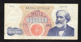 Banconota Italia 1000 Lire Verdi 10/8/1965 Circolata - 1000 Lire