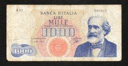 Banconota Italia 1000 Lire Verdi 14/7/1962 Circolata - 1000 Lire