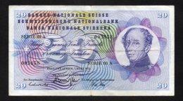 Banconota Svizzera 20 Franchi 7/3/1973 Circolata - Svizzera