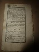 1790 Foires  Duché Et Comté (Bourg En Bresse,Charolais,Lorraine) De Janv.- Fév.- Mars -Avril - Mai- Juin -Juil. -Août - Livres, BD, Revues