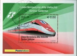 PIA  -  ITALIA  -  2010  : Completamento Della Linea Ferroviaria Ad Alta Velocità Torino-Salerno  -   (SAS  Bf  64) - Blocchi & Foglietti