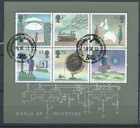 GROSSBRITANNIEN GRANDE BRETAGNE GB 2007 WORLD OF INVENTION SHEET OF 6V SG MS2721 MI B2502-07 YV BF2859-64 SC SH2450-55 - 1952-.... (Elizabeth II)