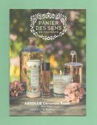 Cartes Parfumées CARTE PANIER DES SENS EN PROVENCE ABSOLUE GERANIUM ROSAT  3  RECTO VERSO   21 Cm X 15 Cm - Perfume Cards