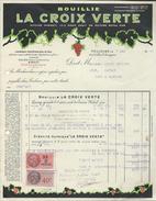 Facture  Bouillie La Croix Verte Pour La Vigne  Avec 2 Timbres Taxes 1941 à Toulouse - Agriculture