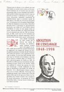 DOCUMENT ENCART 1998 150 ANS ABOLITION DE L'ESCLAVAGE - Postdokumente
