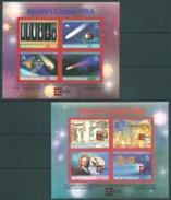 Montserrat,  Space, Halley Comet 1987, Red Overprinted, 2 Shtlt Imperf. RRR!